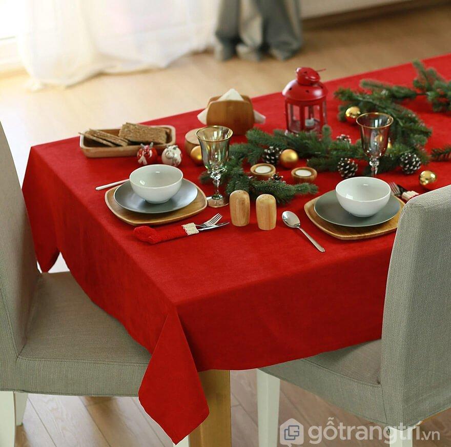 khăn trải bàn giáng sinh