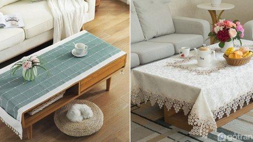 Khăn trải bàn gỗ phòng khách