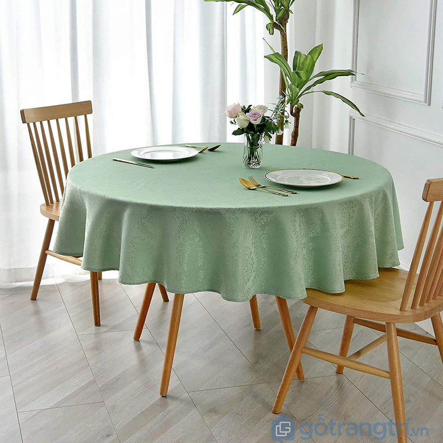 Khăn trải bàn tròn