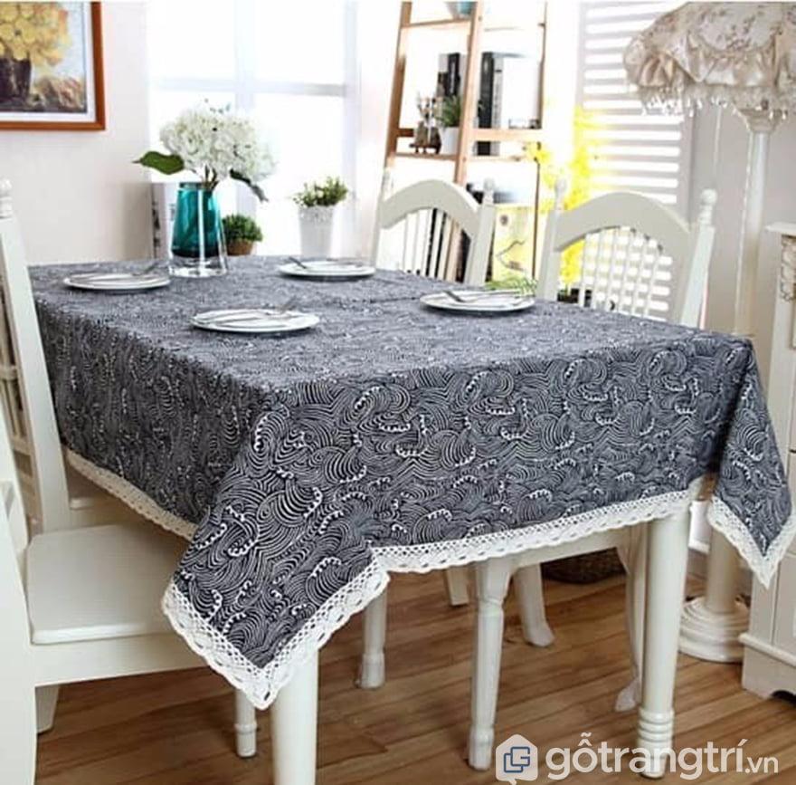 Khăn trải bàn canvas hemp