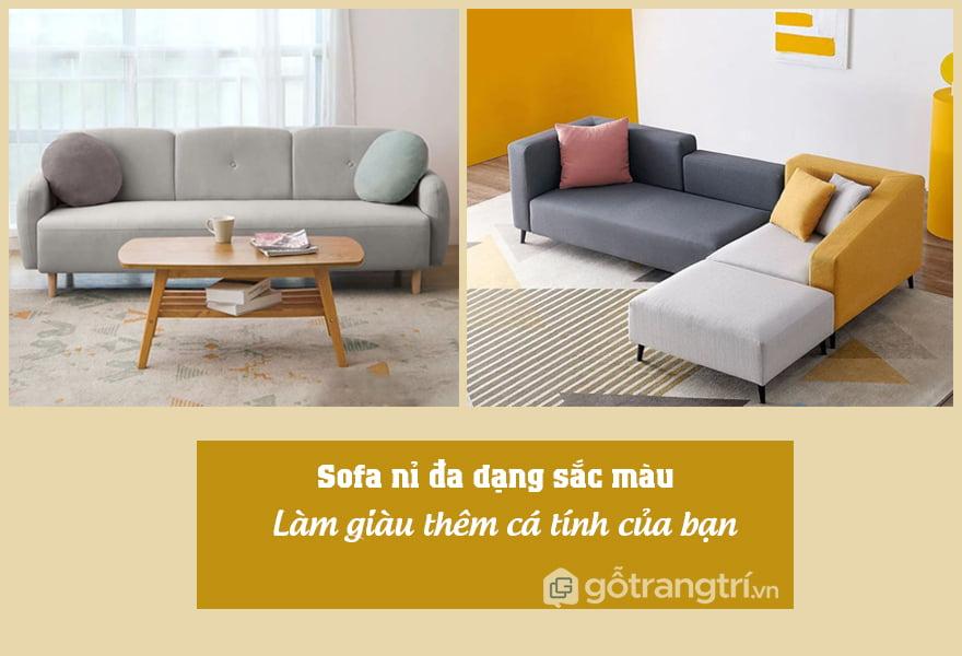 sofa nỉ đẹp