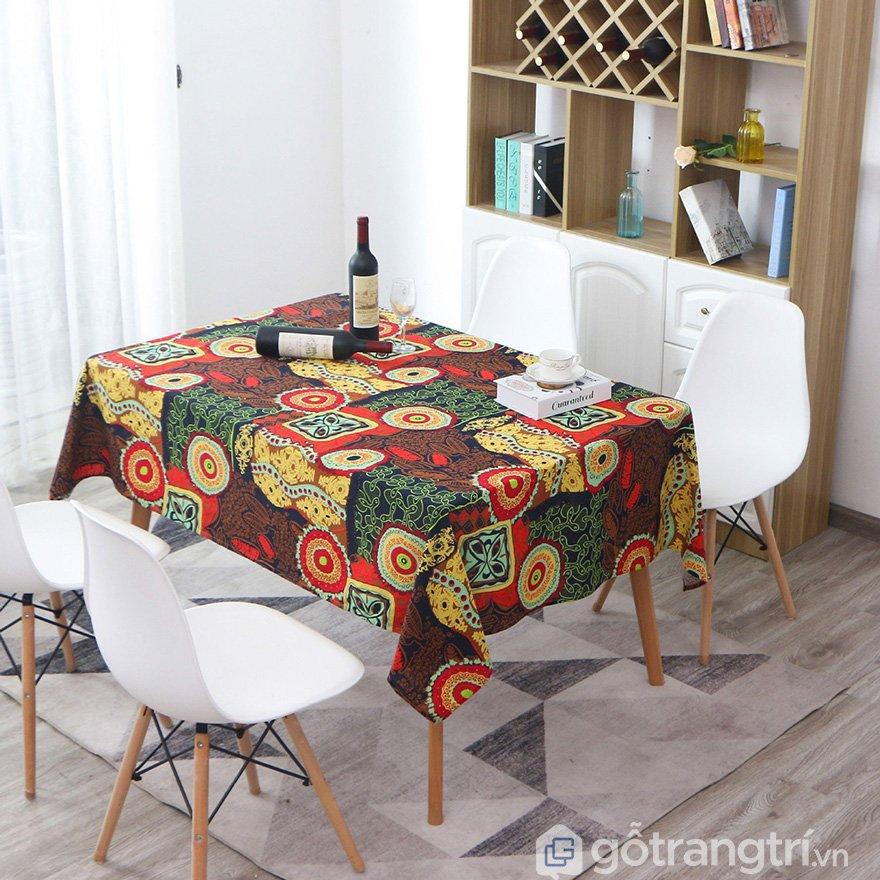 khăn trải bàn canvas lanh