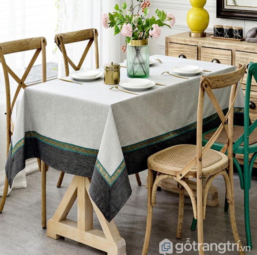 Khăn trải bàn canvas cotton