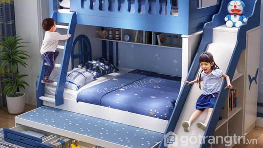 Giường tầng trẻ em có cầu trượt