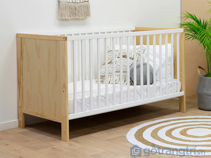 Quây cũi gỗ cho bé