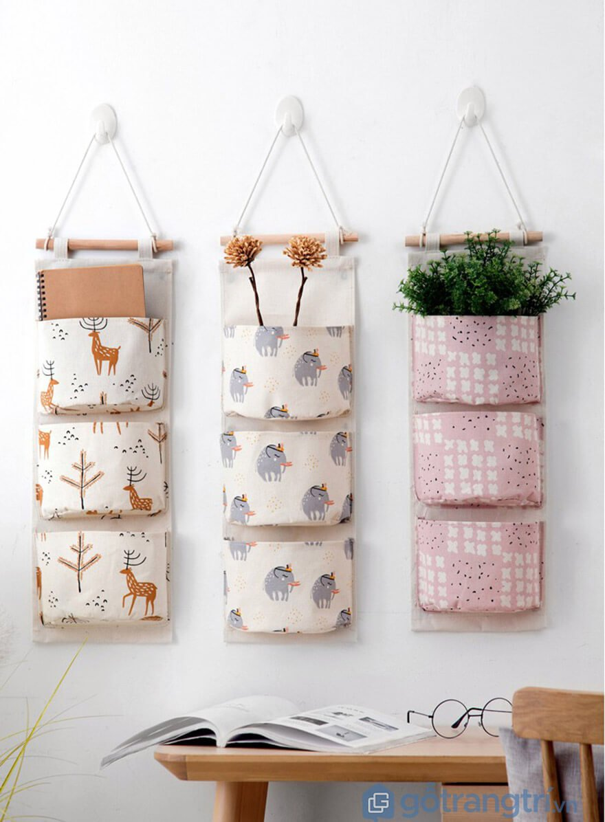 Túi vải treo tường đa năng