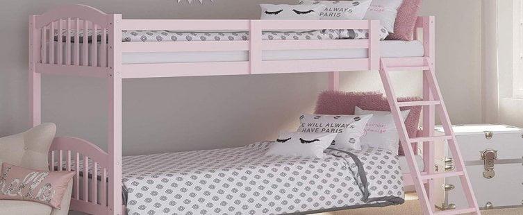 giường tầng cho bé gái màu hồng