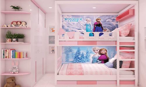 Giường 2 tầng gỗ cho không gian phòng ngủ của bé