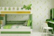 Giường tầng màu xanh