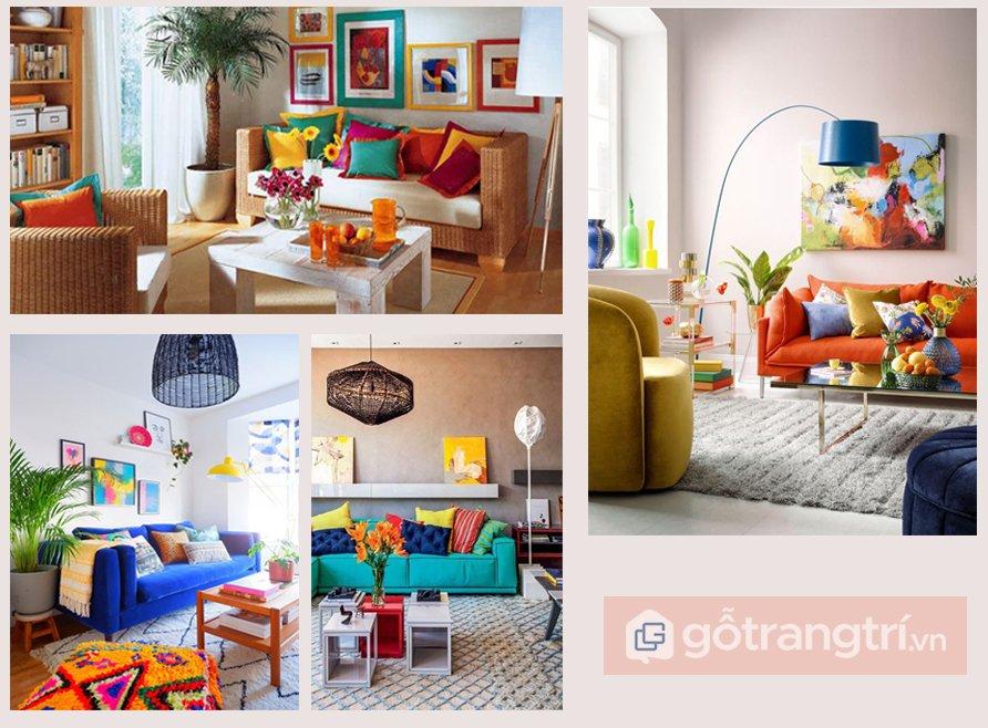 sofa phong cách retro
