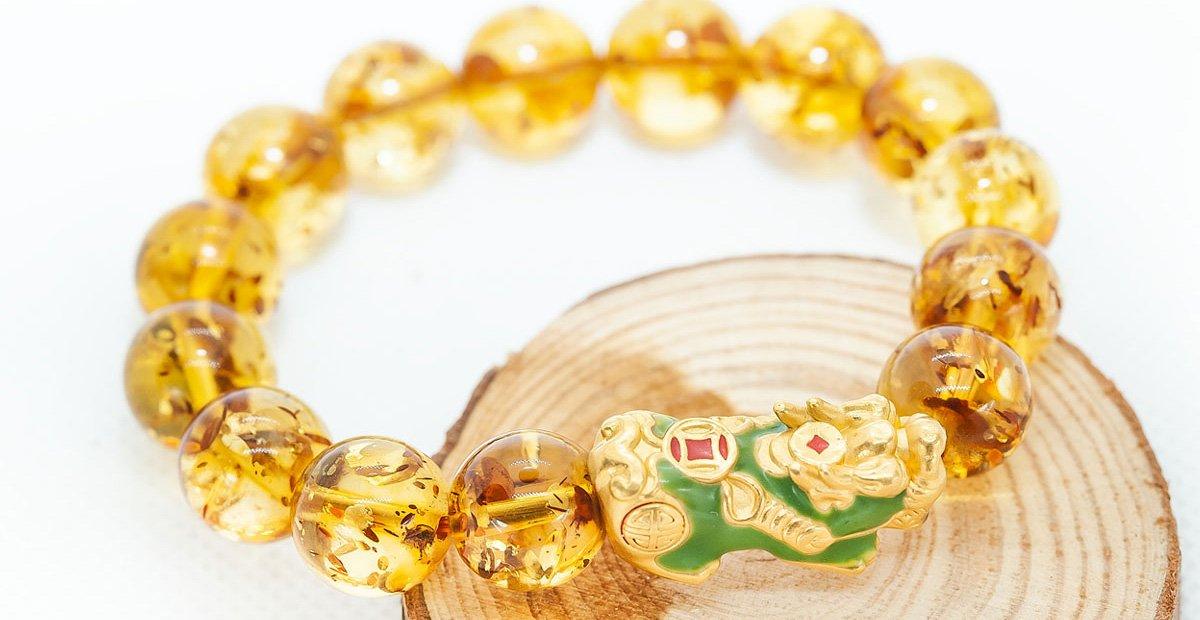 vòng tay tỳ hưu vàng