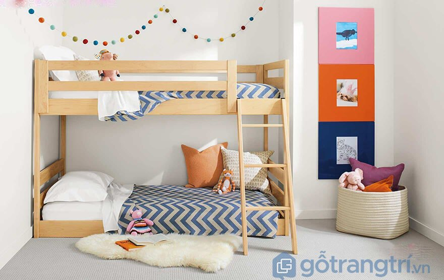 Cách trang trí giường tầng đẹp