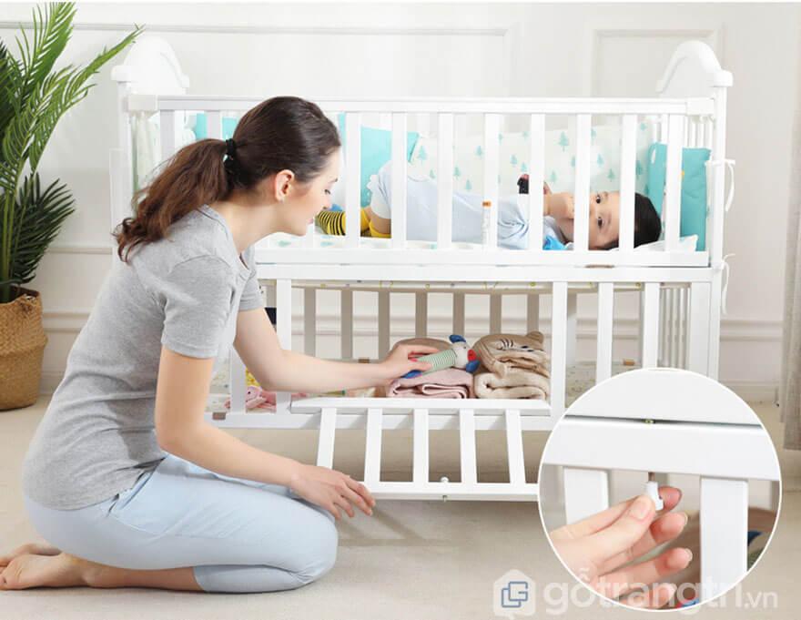 Cũi 2 tầng cho bé