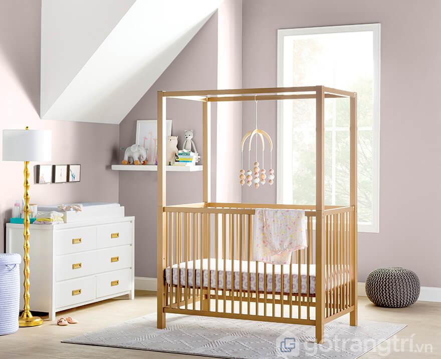 Cũi gỗ 1 tầng cho bé