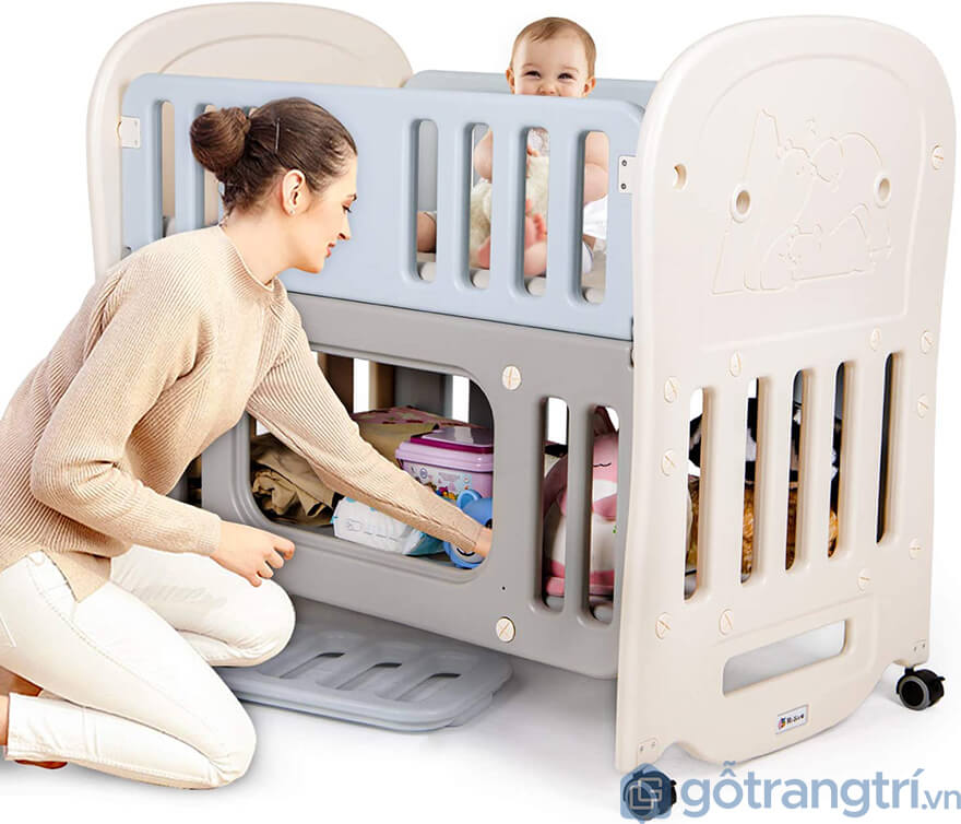 Cũi quây an toàn cho bé