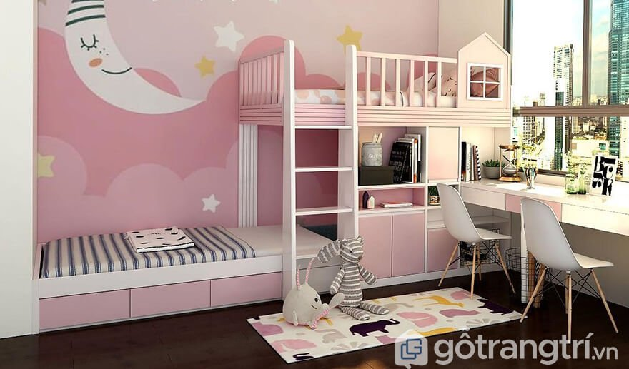 Giường 2 tầng thấp