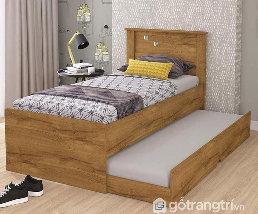 Giường kéo 2 tầng gỗ sồi tự nhiên