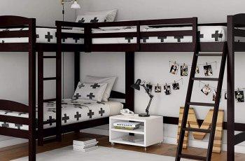 Giường tầng vuông góc trẻ em
