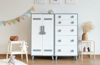 tủ đựng quần áo trẻ em bằng gỗ