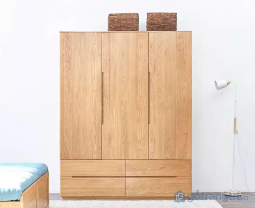 tủ đựng quần áo cho trẻ em bằng gỗ