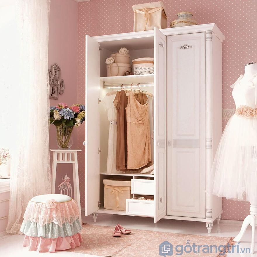 Tủ gỗ cho bé gái giá rẻ