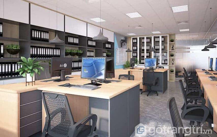 Tủ kệ văn phòng đẹp