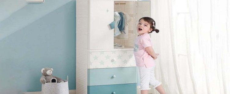 Tủ nhựa quần áo trẻ em nhiều ngăn