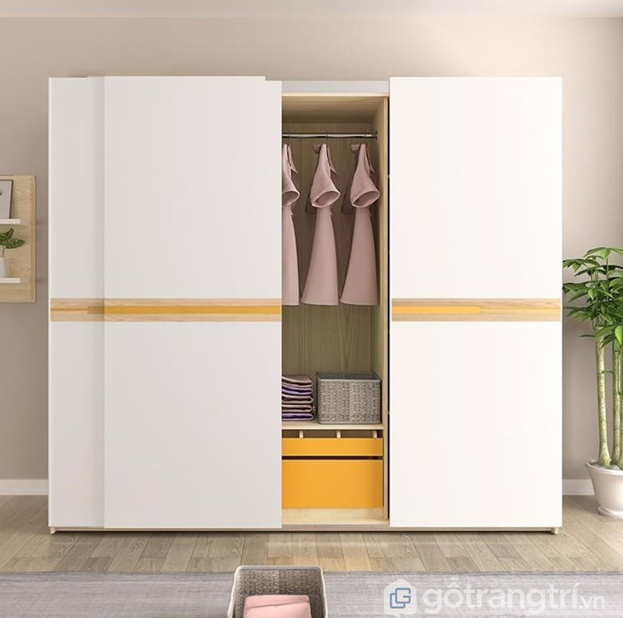 tủ quần áo màu trắng