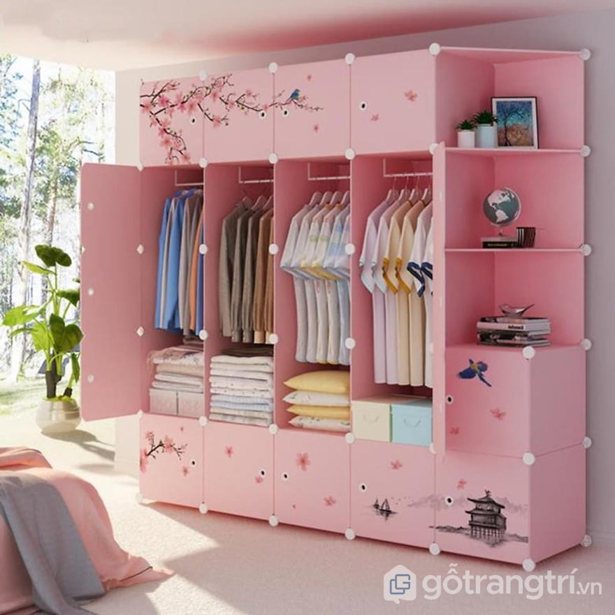tủ quần áo nhựa giả gỗ