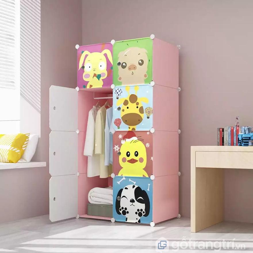 Tủ quần áo nhựa trẻ em