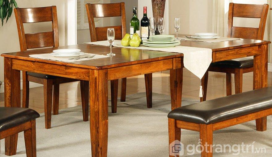 Bộ bàn ghế gỗ cao cấp phòng ăn