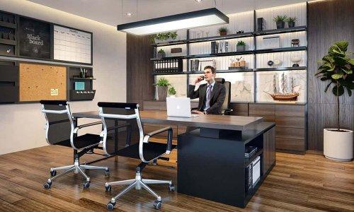 Thiết kế bàn làm việc giám đốc hiện đại