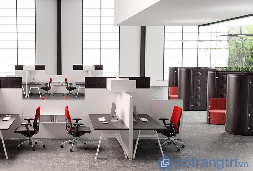 Mẫu bàn làm việc văn phòng hiện đại