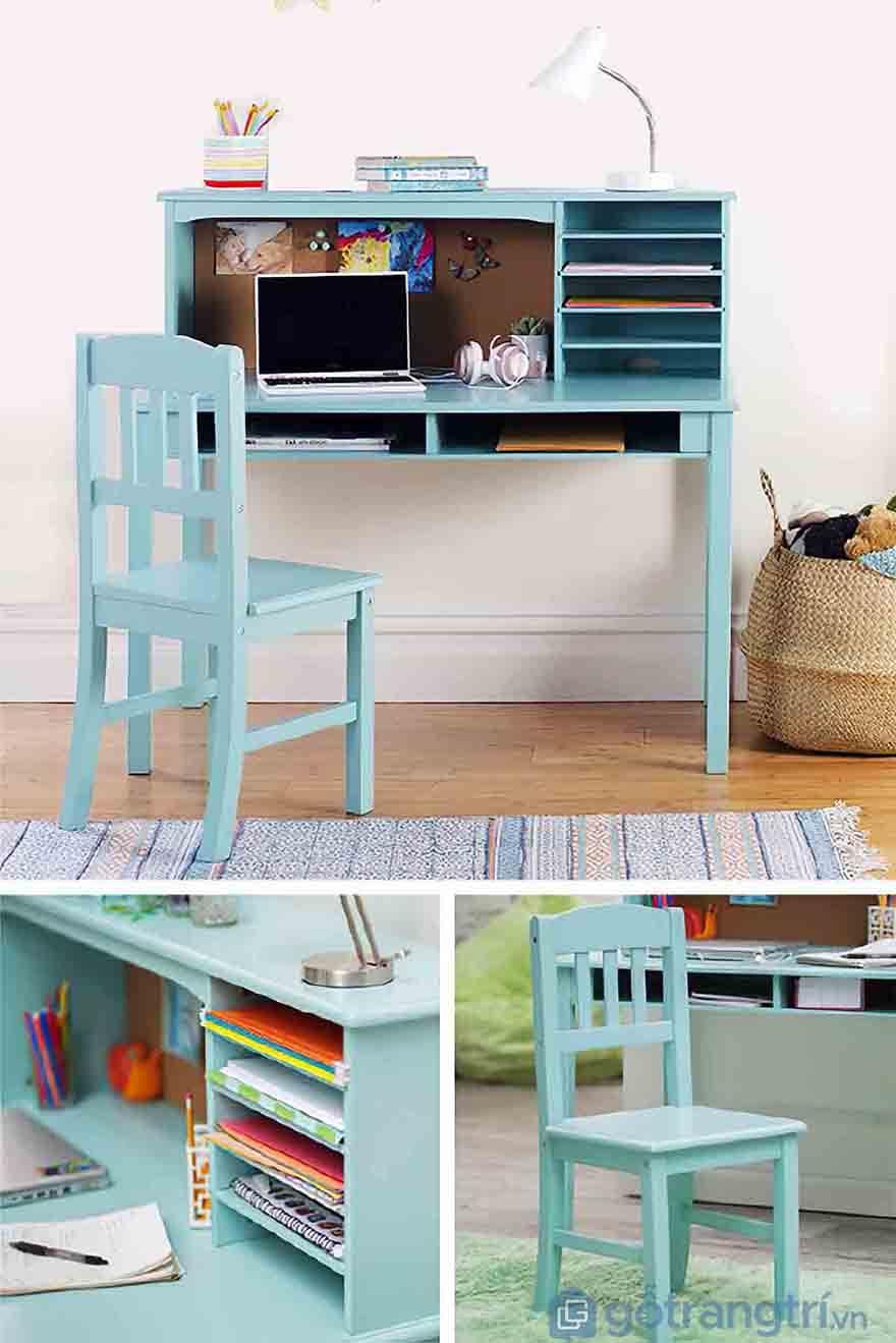 Bộ bàn ghế gỗ cho bé