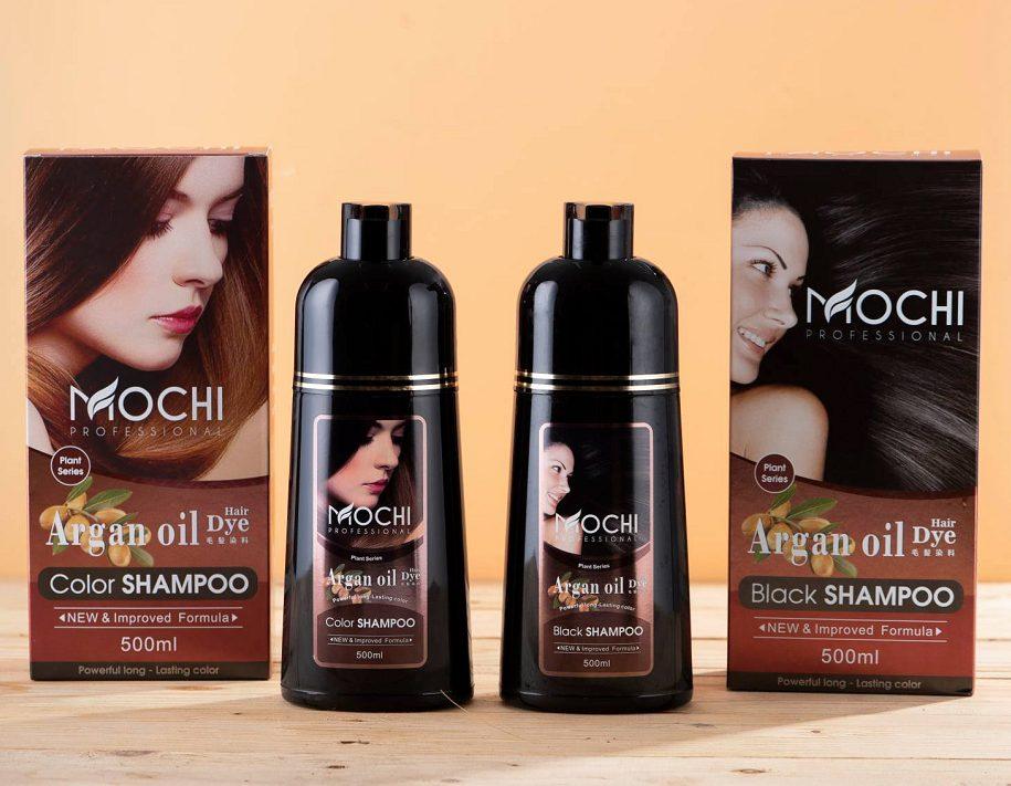 Dầu gội phủ bạc đen tóc Mochi Nhật Bản