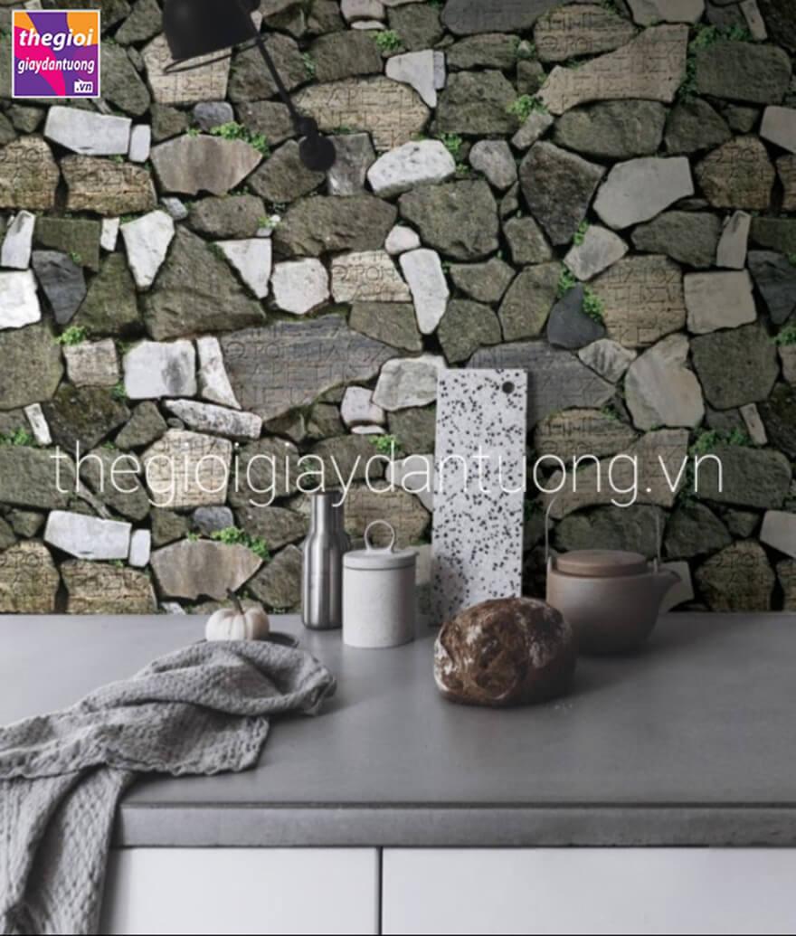 Giấy dán tường Hàn Quốc giả gạch đá