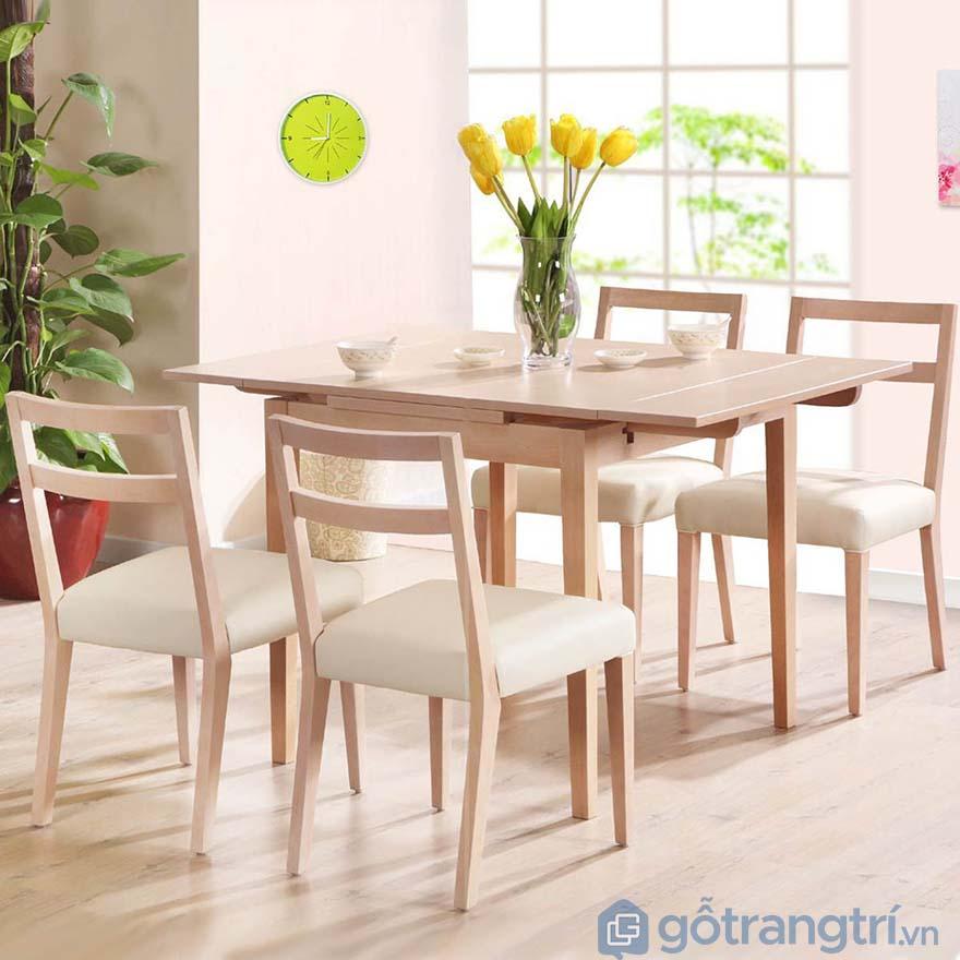 Những mẫu bàn ăn đẹp bằng gỗ