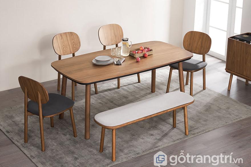 mẫu bàn ăn đẹp bằng gỗ