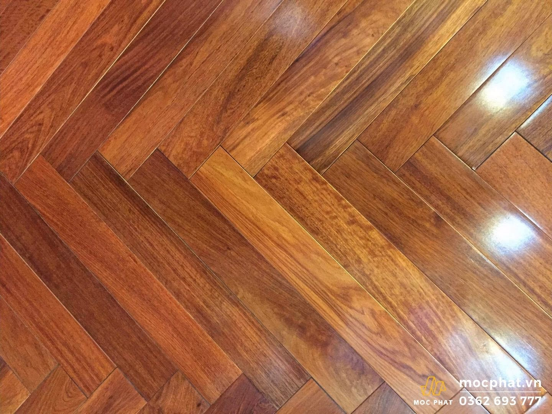sàn gỗ căm xe đẹp