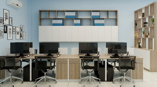 Tủ hồ sơ treo tường giúp tiết kiệm diện tích