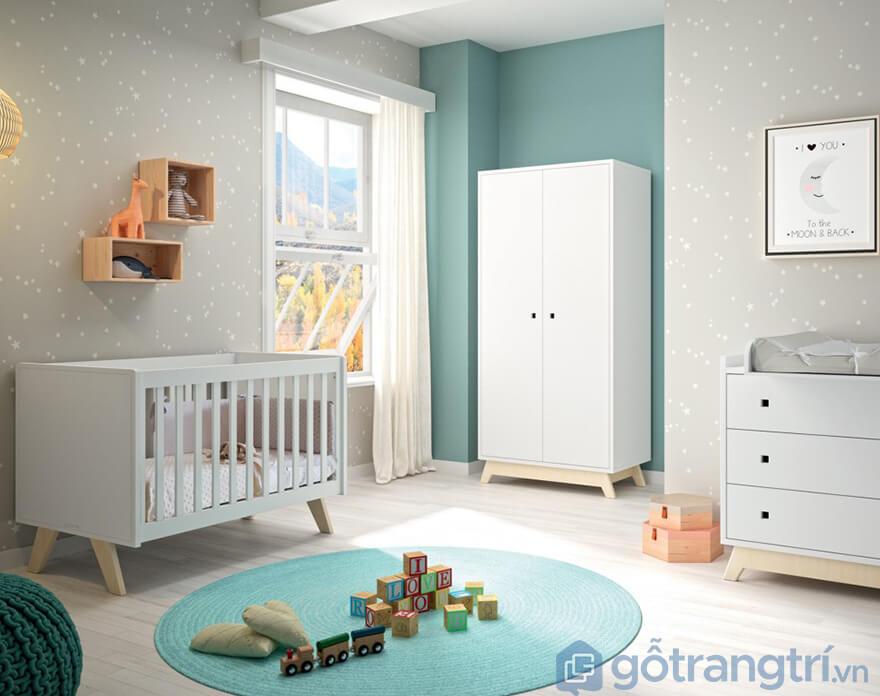 Tủ quần áo trẻ em bằng gỗ MDF