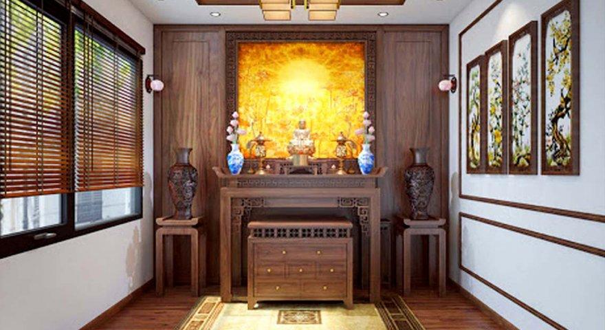 tủ thờ nên làm bằng gỗ gì