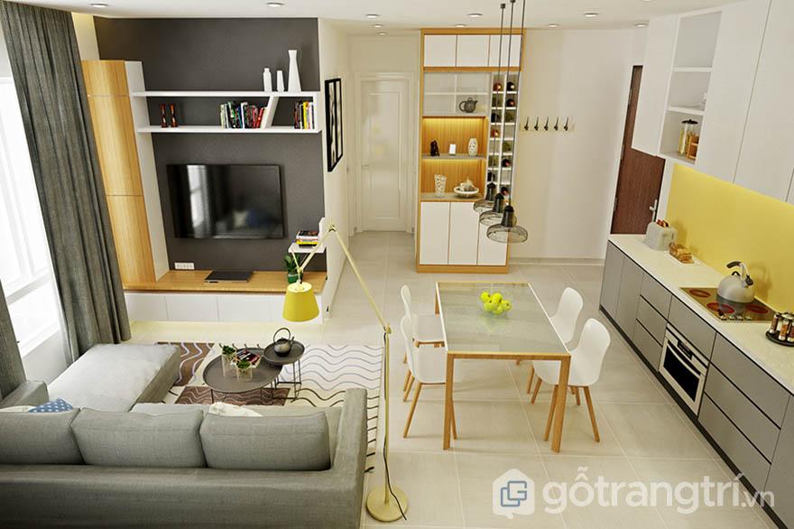 Nội thất chung cư đơn giản