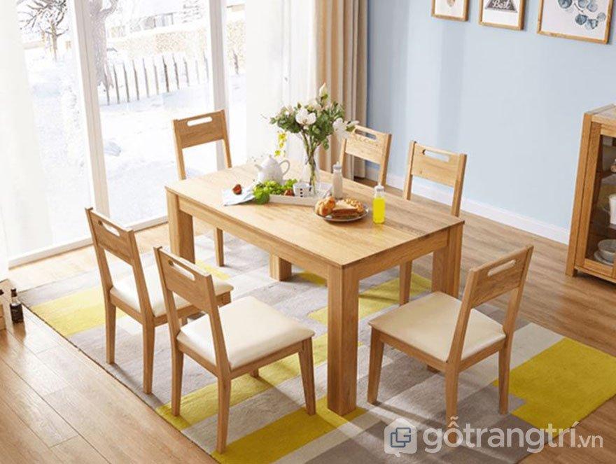 bàn ghế gỗ hiện đại