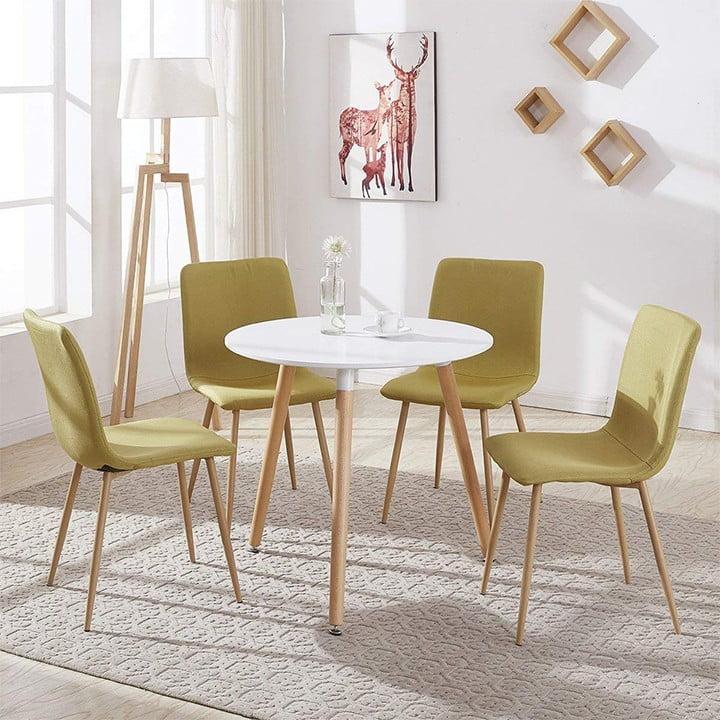 bàn ăn tròn gỗ