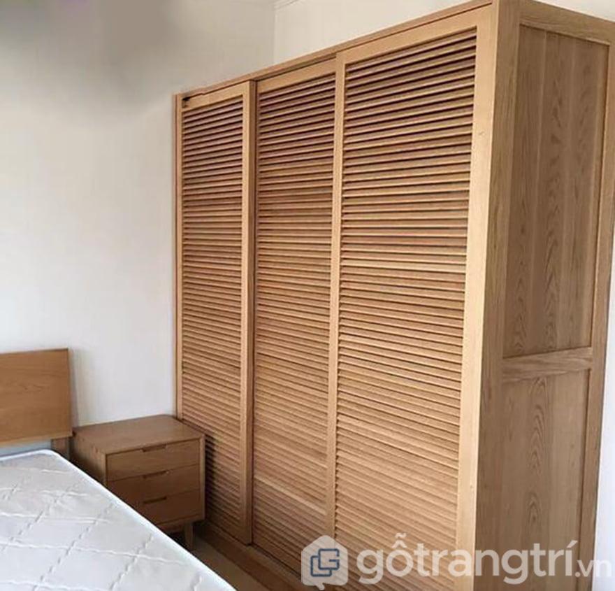 Tủ quần áo gỗ cánh chớp giả cao cấp GHS-51440