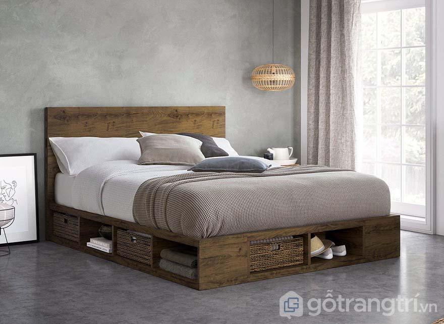 giường hộp gỗ tự nhiên