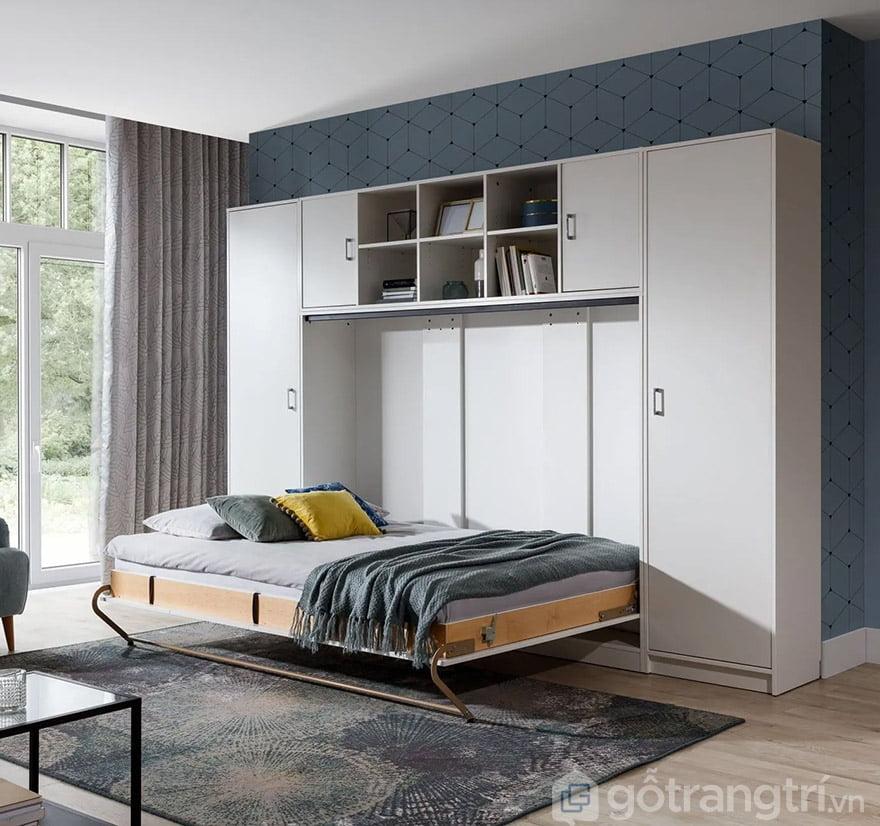 giường ngủ kết hợp tủ quần áo