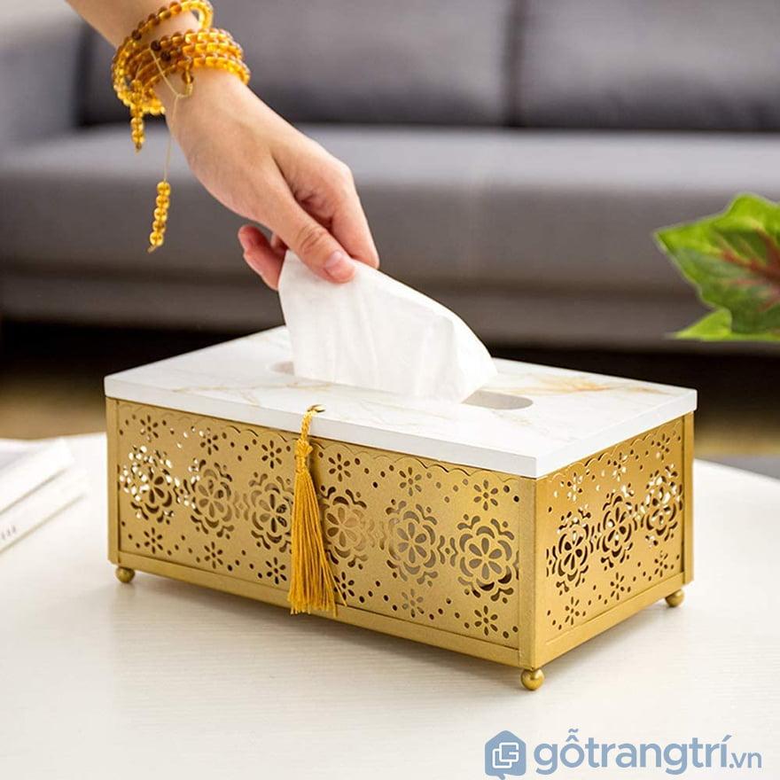 Hộp đựng giấy ăn decor