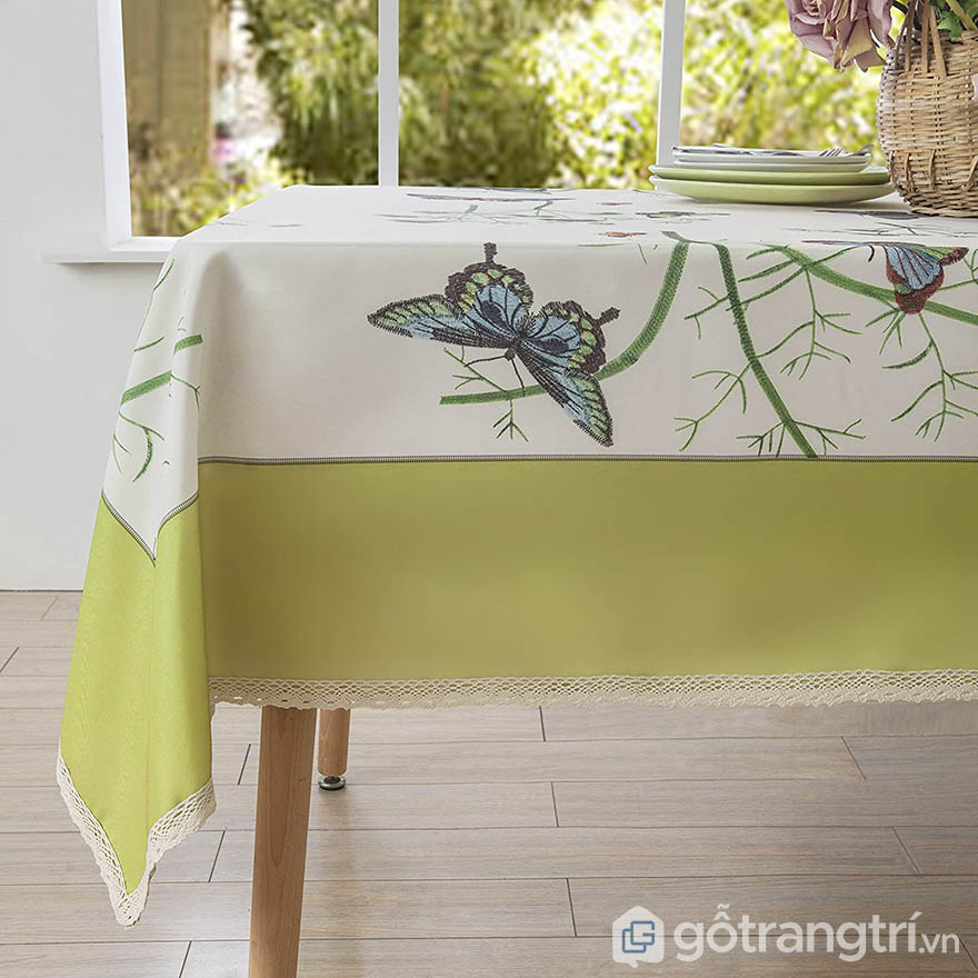 khăn trải bàn 1m8 kiểu Pháp